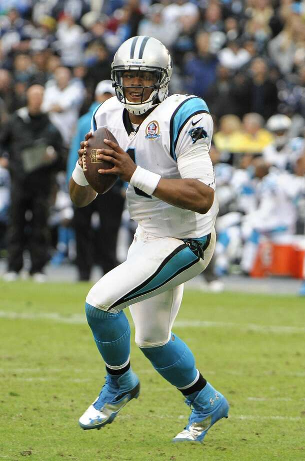 Carolina Panthers quarterback Cam Newton (1) throws during first half of an NFL football game against the San Diego Chargers Sunday, Dec. 16, 2012, in San Diego.  (AP Photo/Denis Poroy) Photo: Denis Poroy, Associated Press