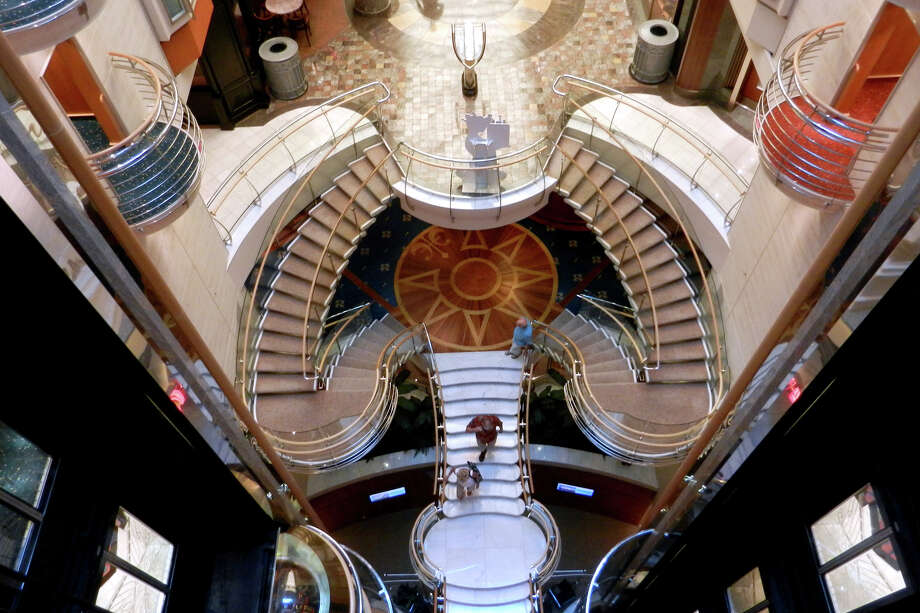 A ship's glitzy design — such as these twisting stairs — often impresses first-time cruisers. Photo: Rick Steves, Ricksteves.com