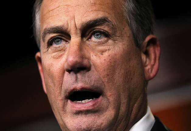 "House Speaker John Boehner could not rally Republicans to get his ""Plan B"" approved. Photo: Alex Wong, Getty Images"