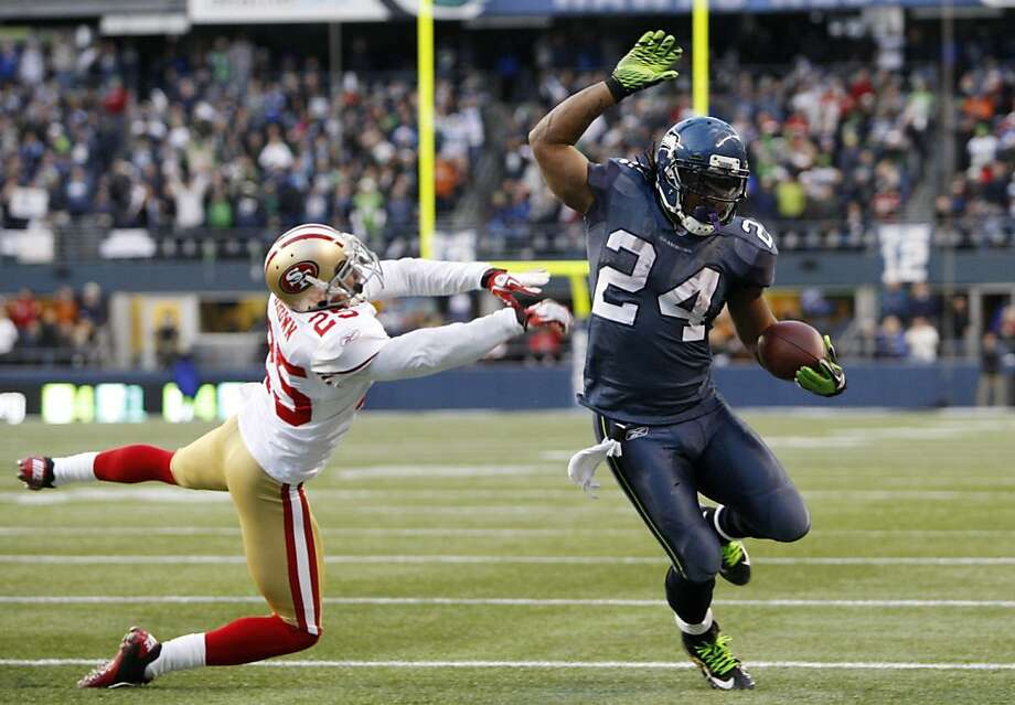 Last December, Seattle's Marshawn Lynch became the first 100-yard rusher against the 49ers in more than two years. Photo: Kevin Casey, Associated Press