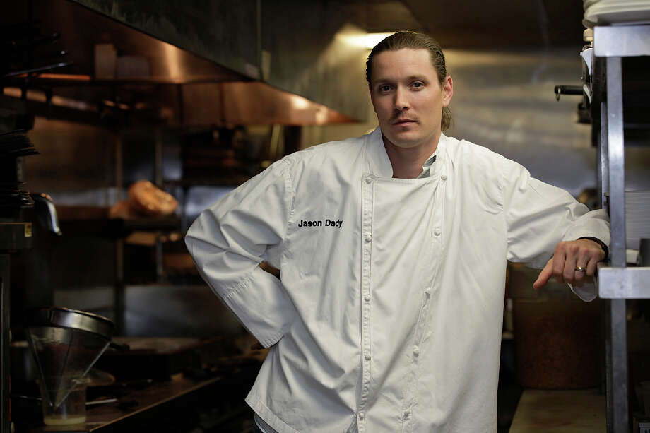 "Jason Dady:The restaurateur (two Tre Trattoria locations, BIN 555, Two Bros. BBQ Market, DUK Truck) goes old school and chooses his grandmother's Thanksgiving Day dinner. ""It's a throwback to soulful cooking,"" he says. ""A perfectly roasted bird, bread stuffing, pan gravy, cranberries, the works."" His grandmother, Barbara Murphy, is a hearty 91 and still lives in Kearney, Neb., where Dady grew up. ""I had her Thanksgiving a couple of weeks ago when I took a week off to visit my family."" Dady was put in charge of the mashed potatoes, but he still got chastised by his aunt for putting butter on the bread stuffing. ""She said I was 'breaking tradition.'"" Photo: JERRY LARA, Express-News File Photo / glara@express-news.net"