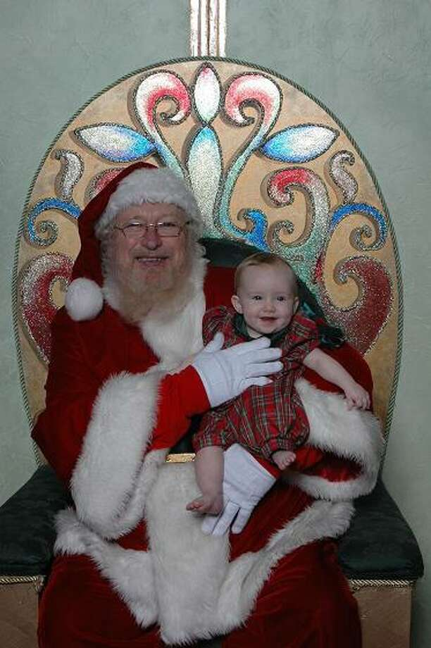 Oblivious Hazel with Santa, 2006