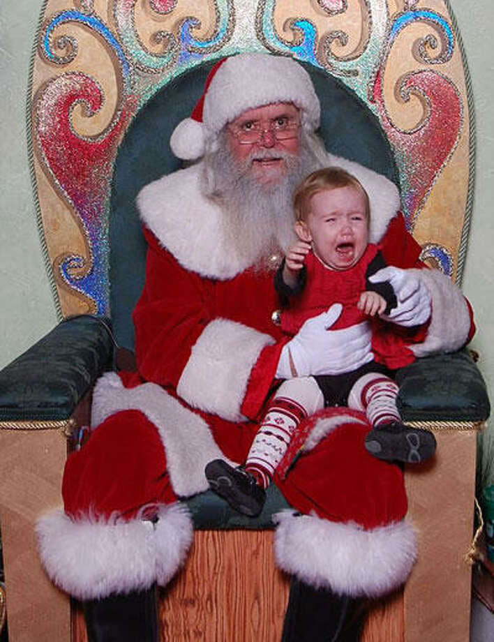 Frenzied Hazel with Santa, 2007