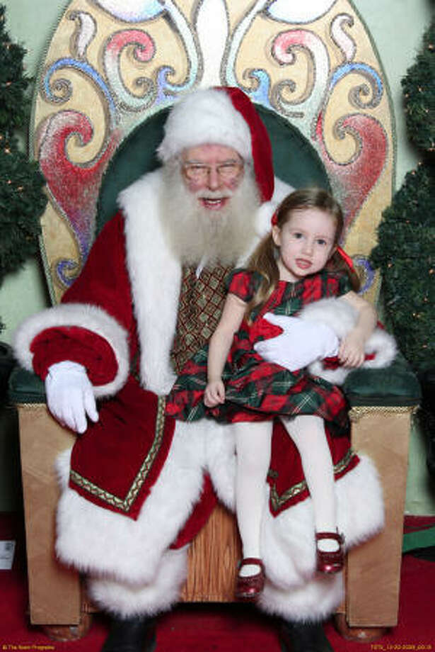 Anxious Hazel with Santa, 2009