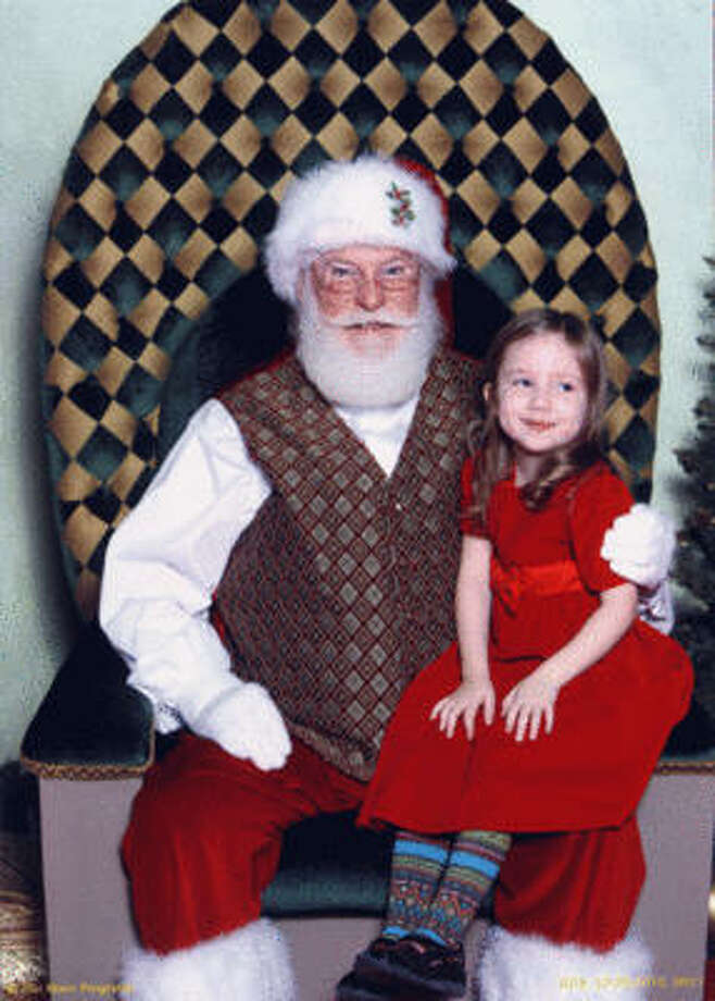 Confident Hazel with Santa, 2010