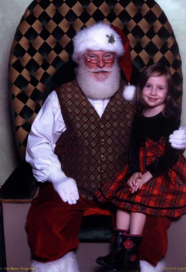 Old-pro Hazel with Santa, 2011