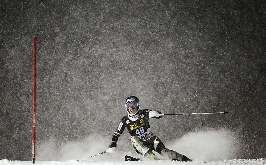 Norway's Nina Loeseth competes during the first run of the FIS Alpine Ski World Cup women's slalom in Are, Sweden, on December 20, 2012. Photo: Jonathan Nackstrand, AFP/Getty Images
