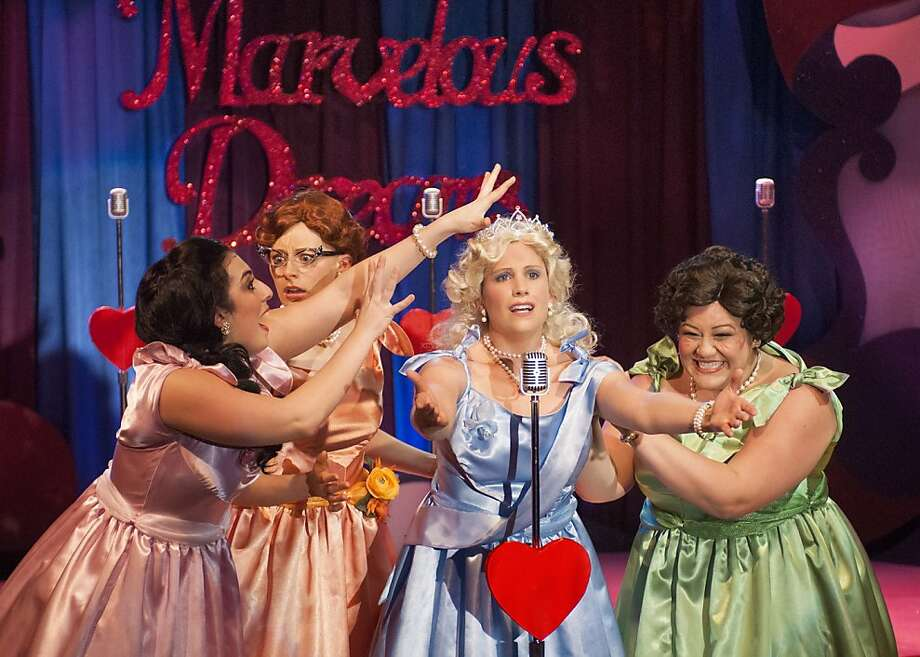 "Nicole Roca as Cindy Lou, Kim Stephenson as Missy, Erin Morrow as Suzy and Sherrell-Lee McCuin as Betty Jean in New Conservatory Theatre Center's ""The Marvelous Wonderettes"" Photo: Lois Tema"