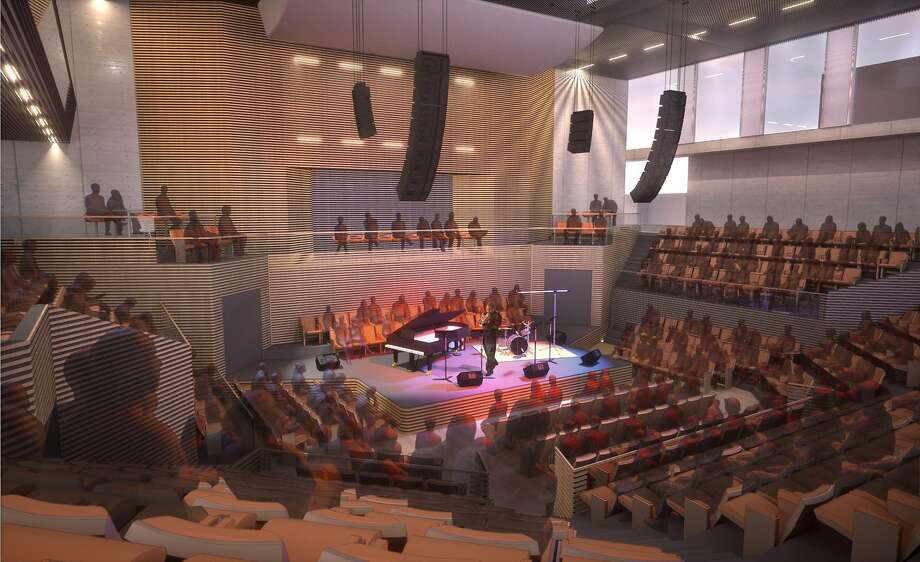 Rendering of the interior of the new SF Jazz Center Photo: Mark Cavagnero Associates