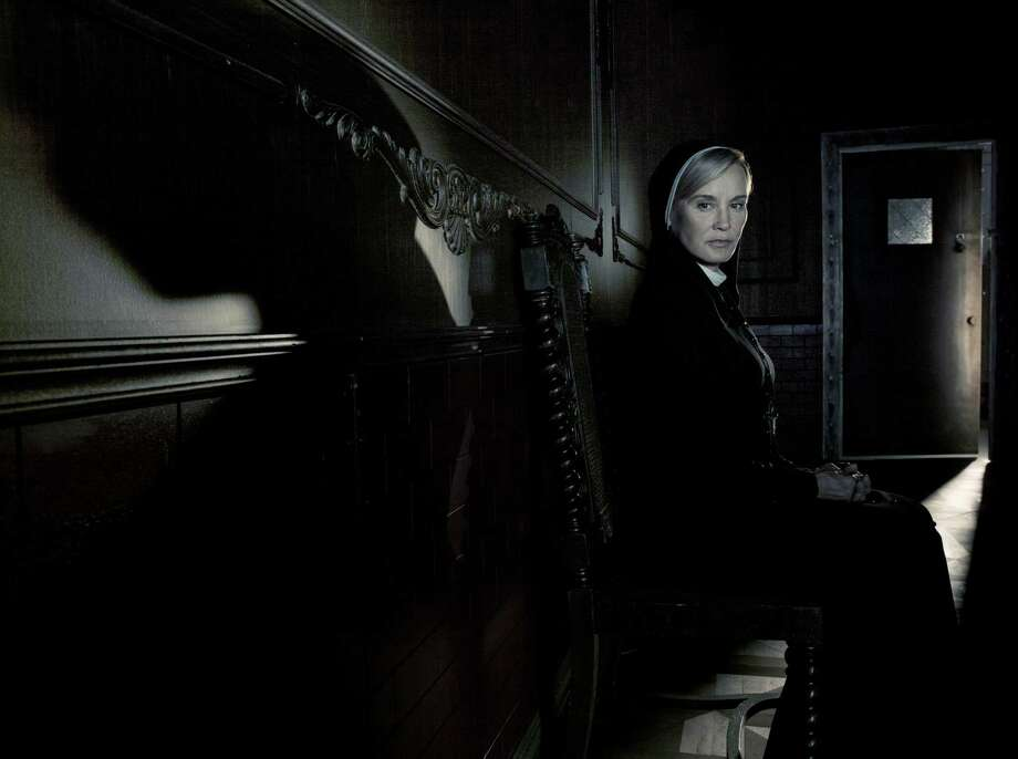 "Jessica Lange takes madness to a new level as Sister Jude on ""American Horror Story: Asylum."""