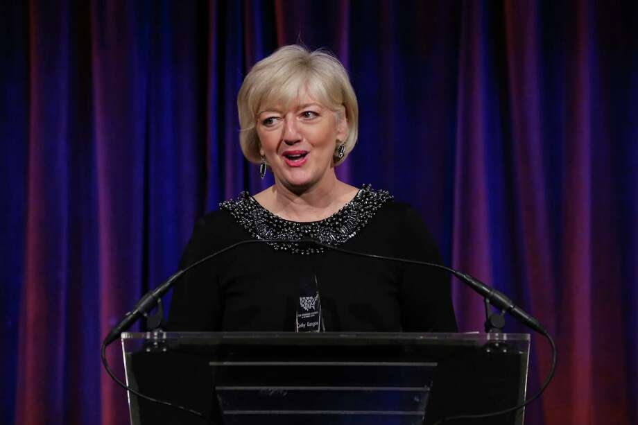 NEW YORK, NY - DECEMBER 18:  Honoree Cathy Kangas speaks on stage during The Humane Society of the United States' To the Rescue! New York Gala at Cipriani 42nd Street on December 18, 2012 in New York City.  (Photo by Neilson Barnard/Getty Images for HSUS) Photo: Neilson Barnard, Getty Images For HSUS / 2012 Getty Images