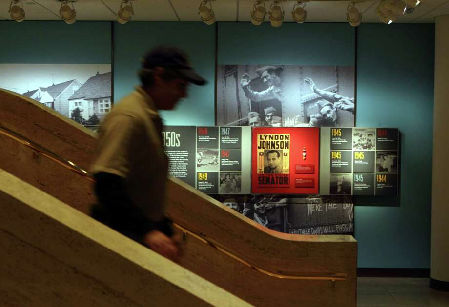 "Also below ""The Great Hall"" is the exhibit ""Lyndon Johnson and His Times."" Photo: Erich Schlegel, Houston Chronicle / ©2012 Erich Schlegel"