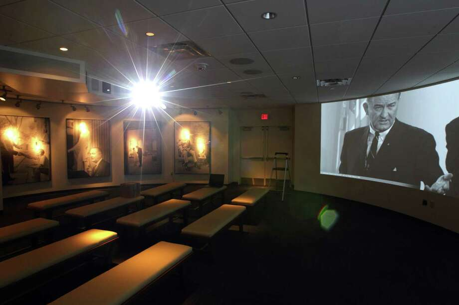 "A new theater near the entrance plays ""LBJ, An Introduction."" Photo: Erich Schlegel, Houston Chronicle / ©2012 Erich Schlegel"