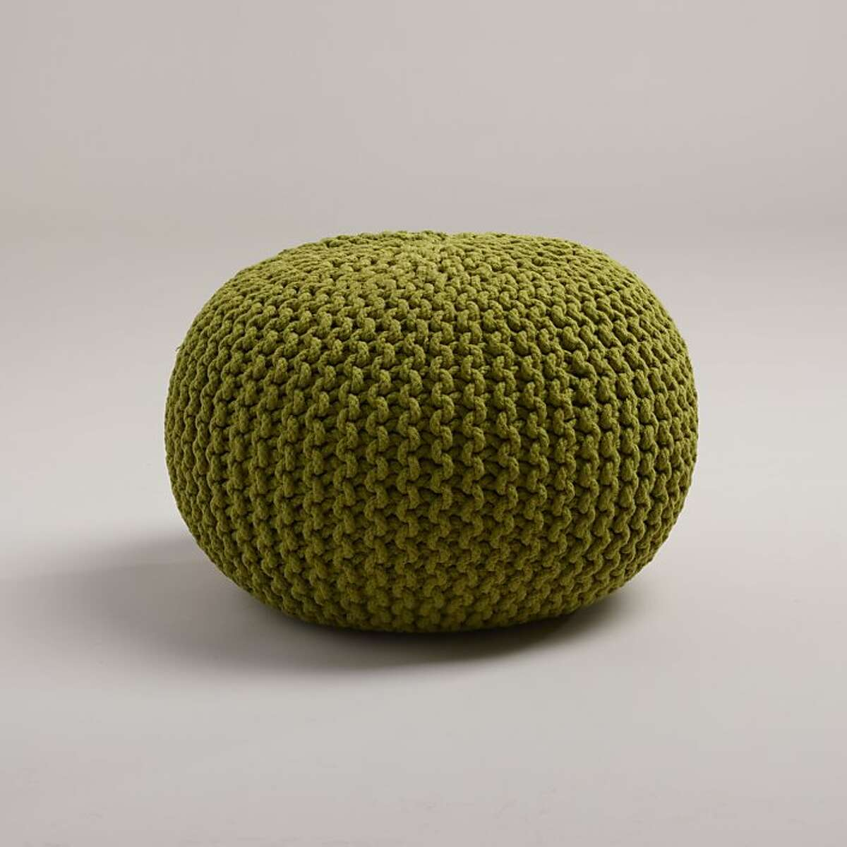 Less: $79 Cost Plus World Market's Oasis Knitted Pouf.