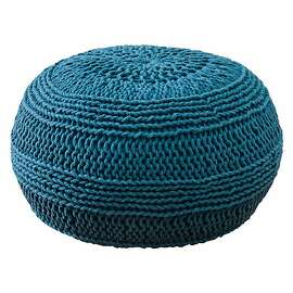 Rizzy Home Cable Knit Pouf by Wayfare.