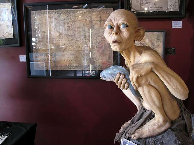 """Lord of the Rings"" items appear at New Zealand's Weta Cave. Photo: Nick Perry, Associated Press"