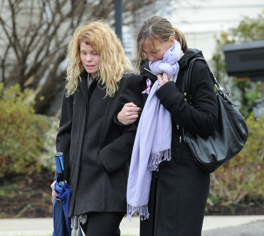 Mourners leave the Funeral Mass for Sandy Hook Elementary School student Olivia Rose Engel at St. Rose of Lima Roman Catholic Church in Newtown, Friday afternoon, Dec. 21, 2012. Photo: Bob Luckey / Greenwich Time