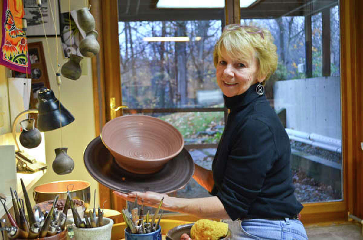 Polly Hunt's love for earthy tones and rich textures shines through in her pottery, which began as a comforting pastime and has become her livelihood. Read the full story here.