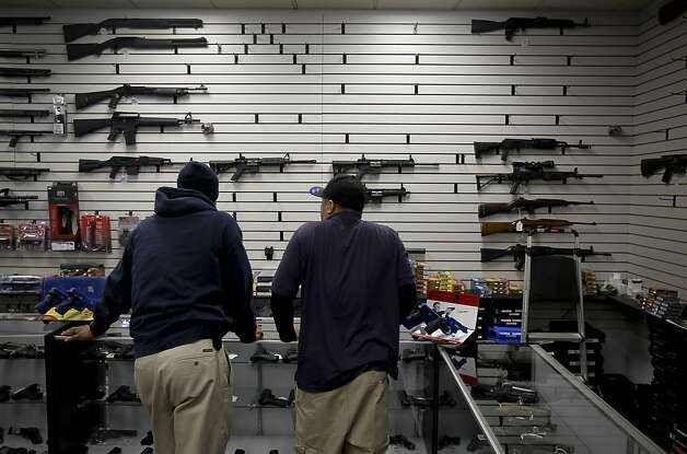 The walls holding AR-15 rifles is becoming bare at U.S.Firearms Academy gun shop in Reno, Nevada, on Wednesday Dec. 19, 2012. The Newtown, Conn. school massacre has rekindled a debate about gun control and the availability of assault rifles. Photo: Michael Macor, The Chronicle