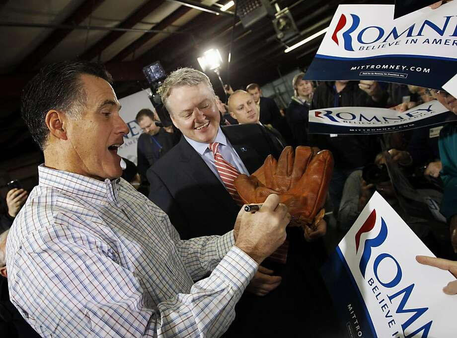 Mitt Romney campaigns in South Carolina in January. While he emerged after the primaries as the Republican standard-bearer, he struck out and limped to the dugout in the end. Photo: Charles Dharapak, Associated Press