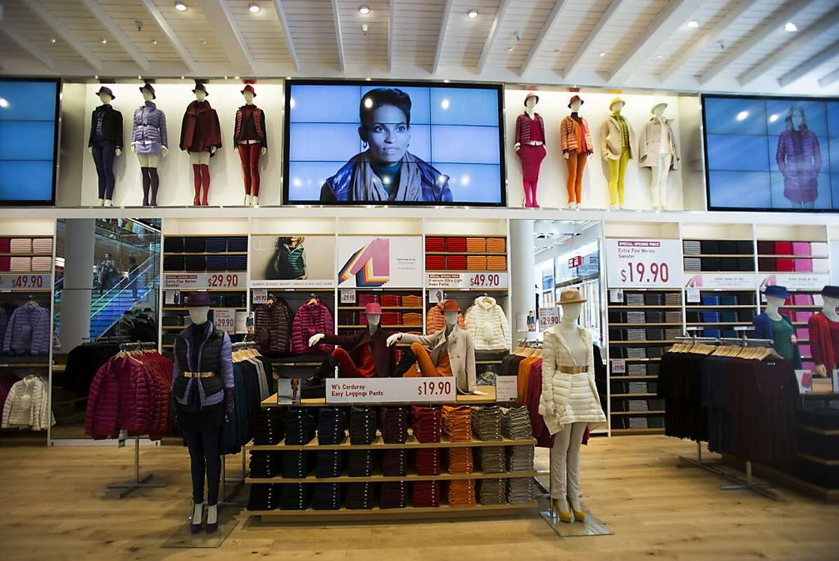 An interior view of Japanese retailer Uniqlo's first West Coast flagship store on Powell St. in San Francisco, Calif. on Wednesday, Oct. 3, 2012.