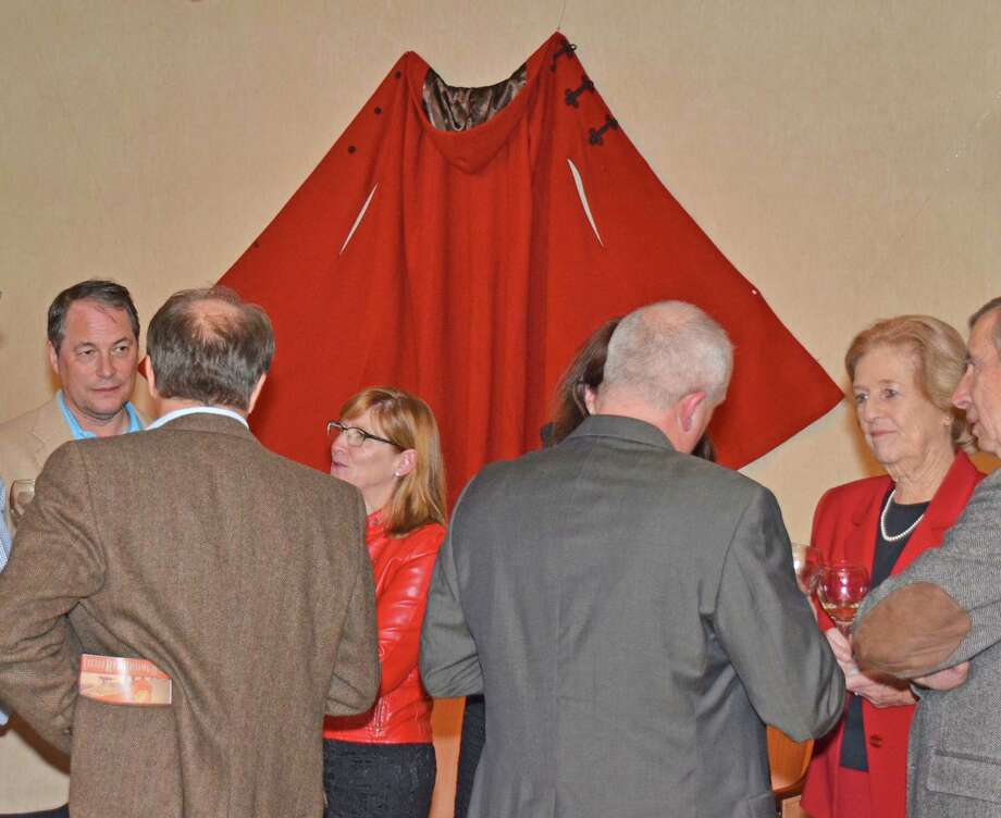 Sponsors, patrons and organizers of New Canaan Historical Society's new exhibit, Little Red Riding Hood, all came out on opening night, Nov. 30, 2012. Photo: Jeanna Petersen Shepard