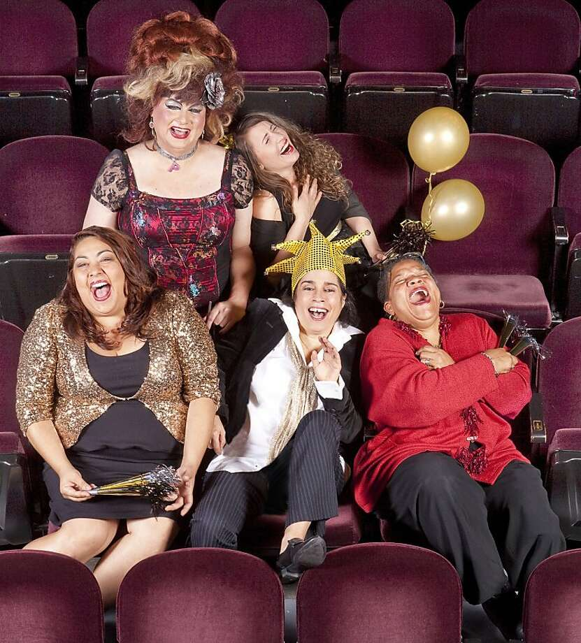 Comedian Marga Gomez (center front) will be back with her traditional New Year's Eve show after taking last year off. Joining her will be some of her Funny Lady Friends. Photo: David Wilson