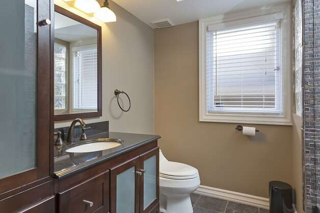 Another angle of the downstairs bathroom. Photo: Scott Hargis/SF