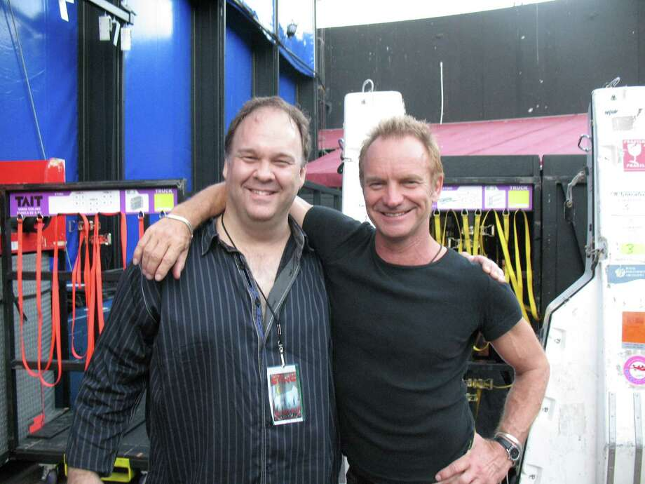 Greenwich record producer and composer Rob Mathes is working with Sting, right, on a forthcoming stage play. Mathes is to perform his annual Christmas concert Saturday night. Photo: Contributed Photo, ST / Stamford Advocate Contributed