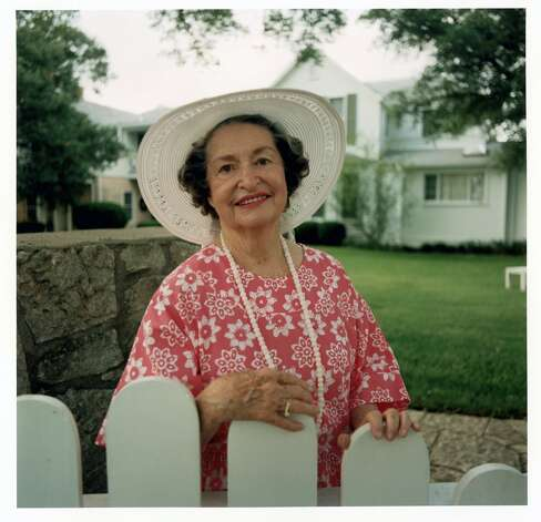This June 1, 1991 photo released by the LBJ Library shows Lady Bird Johnson at the LBJ Ranch near Stonewall, Texas. Lady Bird Johnson, the former first lady who championed conservation and worked tenaciously for the political career of her husband, former President Lyndon B. Johnson, died Wednesday, July 11, 2007, a family spokeswoman said. She was 94. Photo: Frank Wolfe, AP / LBJ Library