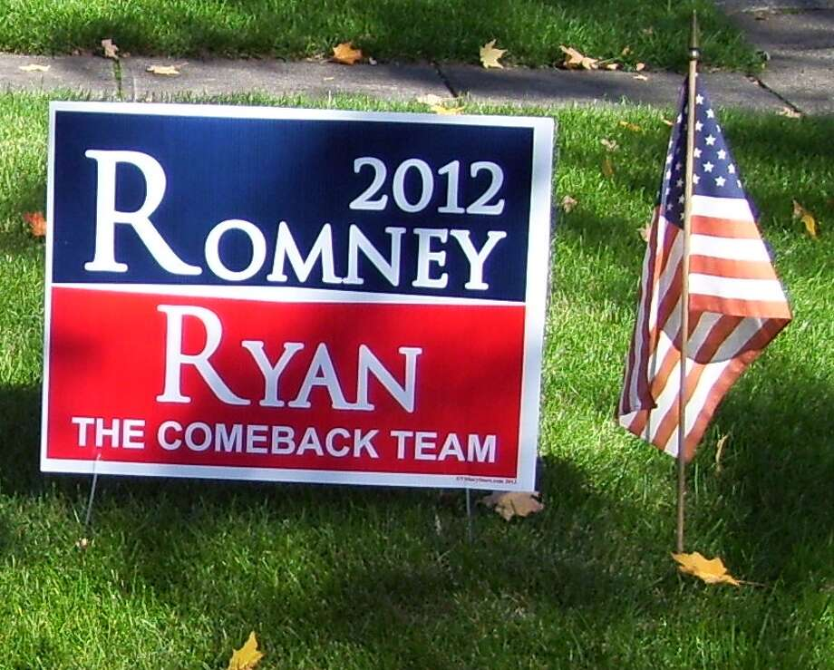 Old political yard signs have got to be useful for something, right? (Screen grab)