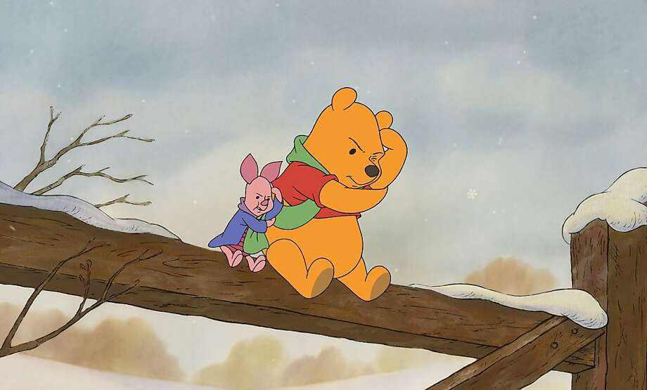 Piglet and Winnie-the- Pooh are Disney-owned. Photo: AP