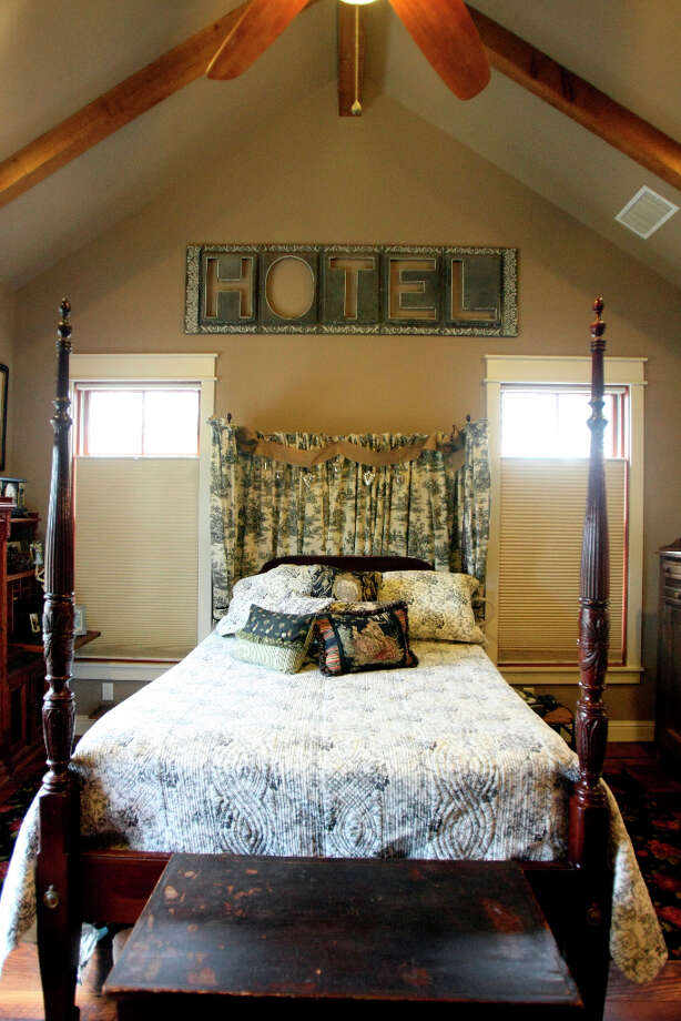 Master bedroom in Scherrer's  home in New Braunfels. Photo: Helen L. Montoya, San Antonio Express-News / ©SAN ANTONIO EXPRESS-NEWS