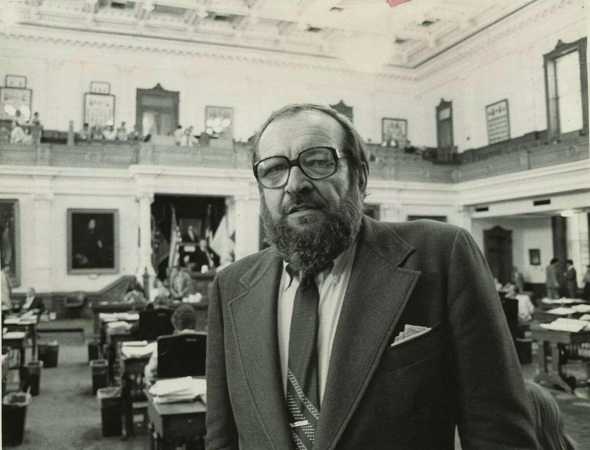 Journalist-author Larry L. King, shown at the Texas Capitol in 1981, lived in D.C.