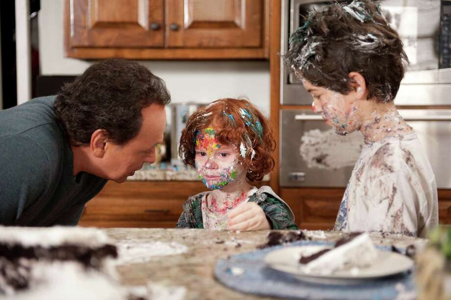 "Artie (Billy Crystal) realizes his grandsons (Kyle Harrison Breitkapf, center, and Joshua Rush) have had a tad too much sugar in ""Parental Guidance."" Photo: Phil Caruso / TM & © 2011 Twentieth Century Fox Film Corporation and Walden Media, LLC.  All Rights Reserved.  Not for sale or duplication."