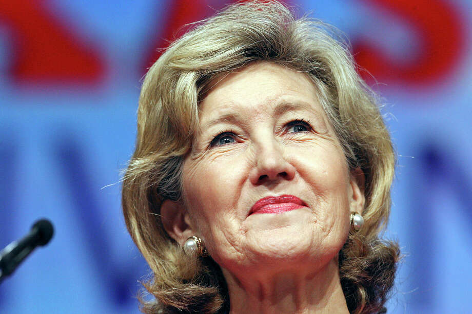 U.S. Sen. Kay Bailey Hutchison speaks during the 2012 Texas GOP Convention held at the Fort Worth Convention Center Friday June 8, 2012 in Fort Worth, Texas. Photo: Edward A. Ornelas, Staff / © 2012 San Antonio Express-News