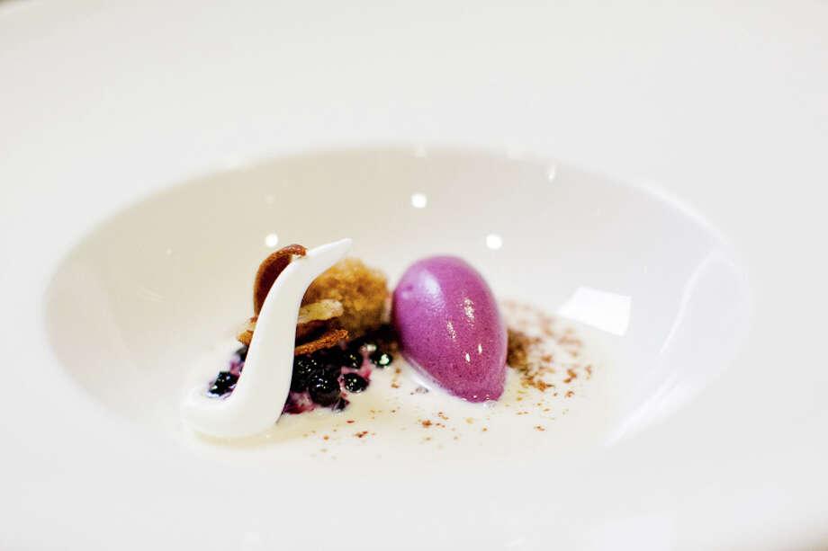 Dessert: Huckleberry cinnamon pecan eucalyptus (Creel Films)