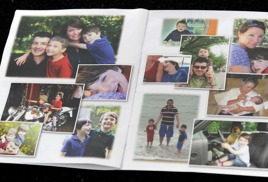 A funeral service for Dylan Hockley, victim of the Sandy Hook Elementary School shootings last week, is held at Walnut Hill Community Church in Bethel, Conn. Friday, Dec. 21, 2012. This is a photo of a couple of pages in the program. Photo: Carol Kaliff / The News-Times