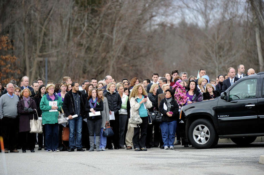A funeral service for Dylan Hockley, victim of the Sandy Hook Elementary School shootings last week, is held at Walnut Hill Community Church in Bethel, Conn. Friday, Dec. 21, 2012. Photo: Carol Kaliff / The News-Times