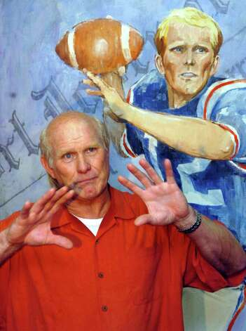 Terry Bradshaw, former Louisiana Tech and Pittsburgh Steelers football quarterback, talks Tuesday, Aug. 22, 2006, in Ruston, La., about what led him to donate several of his NFL possessions to the university. (AP Photo/The News-Star,Michael Dunlap) Photo: MICHAEL DUNLAP, Express-News / AP2006
