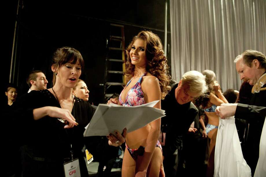 Miss France, Marie Payet, poses backstage. Photo: Valerie Macom, Miss Universe Organization / Miss Universe Organization