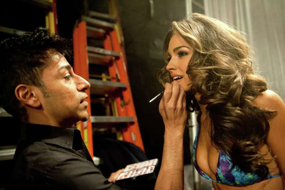 Miss USA, Olivia Culpo, gets her makeup done. Photo: Valerie Macom, Miss Universe Organization / Miss Universe Organization