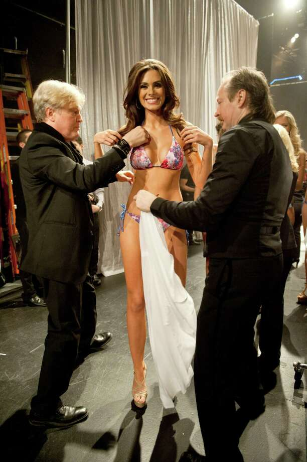 Miss Brazil, Gabriela Markus, prepares backstage. Photo: Valerie Macom, Miss Universe Organization / Miss Universe Organization