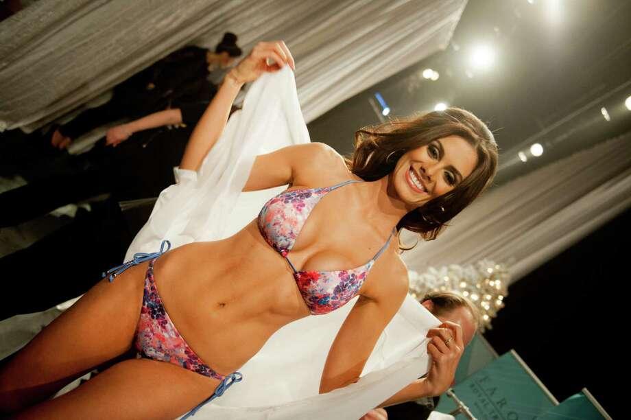 Miss Brazil, Gabriela Markus, poses backstage. Photo: Valerie Macom, Miss Universe Organization / Miss Universe Organization