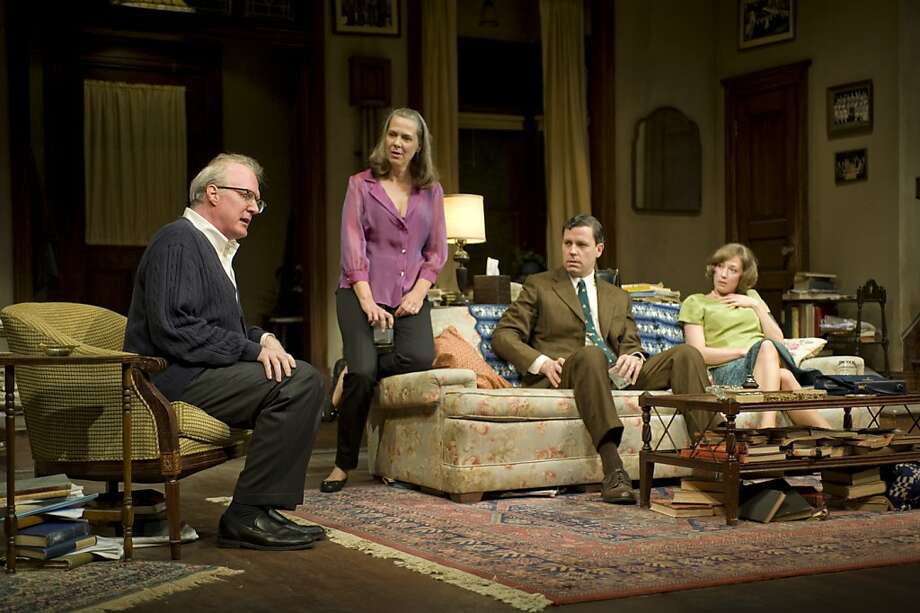 "Tracy Letts (left), Amy Morton, Madison Dirks and Carrie Coon perform in a 50th-anniversary production of Edward Albee's ""Who's Afraid of Virginia Woolf"" at New York's Booth Theatre. Photo: Michael Brosilow, Associated Press"