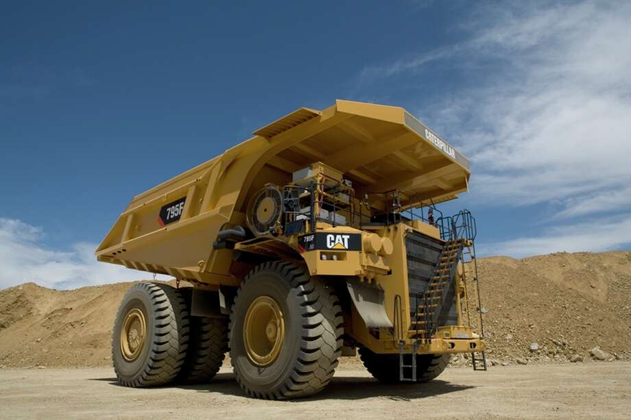 Caterpillar is developing natural gas-fueled versions of heavy equipment, including this giant, a Model 795 off-highway mining truck. Photo: Caterpillar