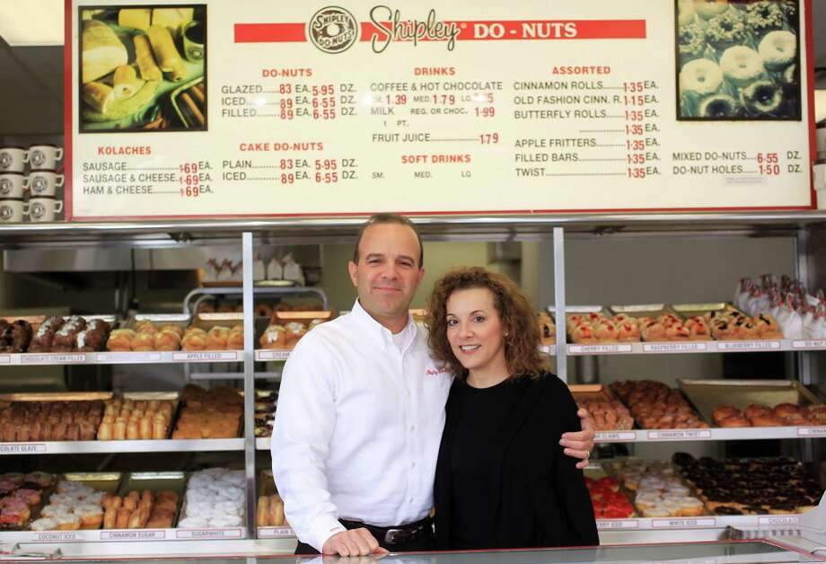 Lawrence Shipley III, and his sister, Sharon A. Shipley, stand at the Shipley Do-Nuts  shop at 1209 Dairy Ashford, Tuesday, Dec. 11, 2012, in Houston. ( Karen Warren / Houston Chronicle ) Photo: Karen Warren, Staff / © 2012 Houston Chronicle