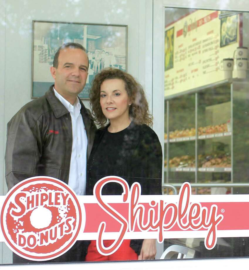 Lawrence Shipley III, and his sister, Sharon A. Shipley, stand at the Shipley Do-Nuts  shop at 1209 Dairy Ashford, Tuesday, Dec. 11, 2012, in Houston. Photo: Karen Warren, Staff / © 2012 Houston Chronicle