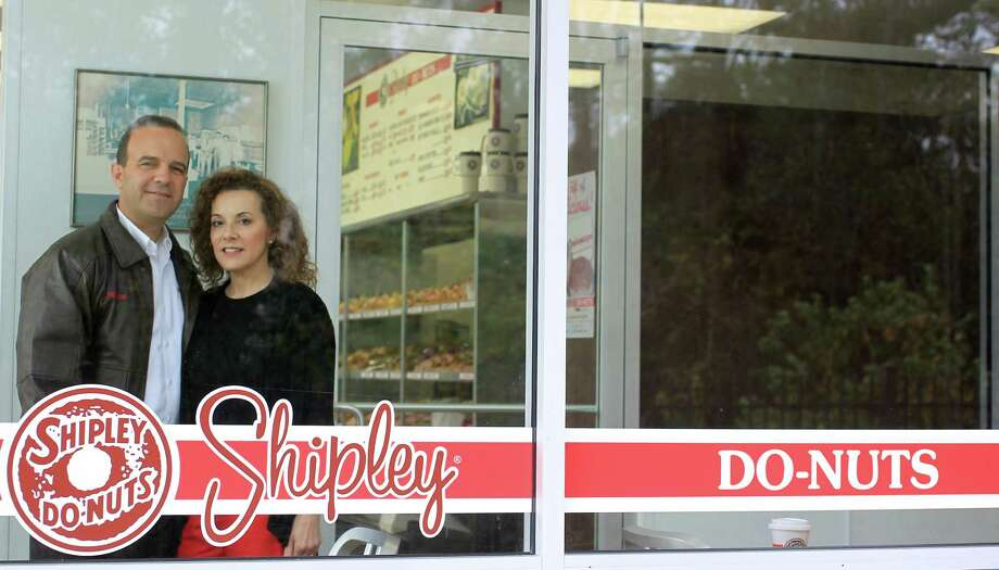 Lawrence Shipley III, and his sister, Sharon A. Shipley, stand at the Shipley Do-Nuts  shop at 1209 Dairy Ashford, Tuesday, Dec. 11, 2012, in Houston.Shipley of the future: New products, new looks for a Houston favorite Photo: Karen Warren, Staff / © 2012 Houston Chronicle