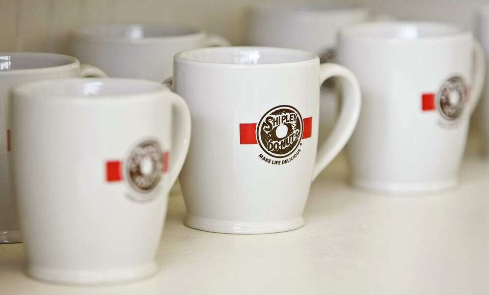 Shipley's Do-nuts' is selling new products, including mugs, in it's Dairy Ashford store, Wednesday,